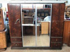 cupboard, unrestored, brown, great foot, veneer, antique, living room, elegant, wardrobe, luxury, large, stable, pattern, walnut
