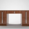 Walnut Art Deco Desk with Large Chrome Handles_3
