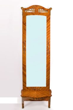 mirror, france, veneer, rosewood, mirrorglass, mirrored, original, luxury, design, restored, concave, curved, living room