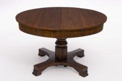 table, divisble, extension, antique, empire, 1900, nice foot, walnut, brown, plates, design, luxury, living room, veneer