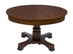 table, divisble, extension, antique, empire, 1900, nice foot, walnut, brown, plates, design, luxury, living room, veneer