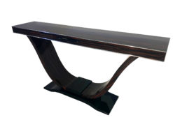 Art Deco, custom furniture, design, interior design, home decor, decoration, macassar, veneer, table, piano lacquer, chrome details