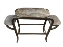 Serving table, unrestored, brown, great foot, veneer, antique, living room, elegant, pattern, luxury, large, stable, pattern
