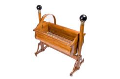 cradle, austria, veneer, walnut wood, walnut, rolls, three-parted, luxury, design, restored, concave, curved, living room