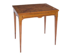 game table, table, classicist, louis xvi, rosewood, veneer, conic legs, geometric, france, french, living room, luxury, restored