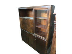 cabinet, unrestored, brown, great foot, veneer, antique, living room, elegant, pattern, luxury, large, stable, pattern, walnut