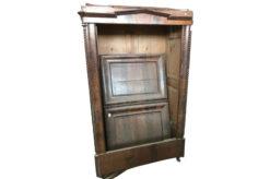 cupboard, unrestored, brown, great foot, veneer, antique, living room, elegant, pattern, luxury, large, stable, pattern, walnut