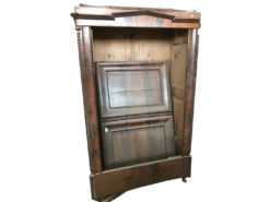 cupboard, unrestored, brown, great foot, veneer, antique, living room, elegant, pattern, luxury, large, stable, pattern, walnut