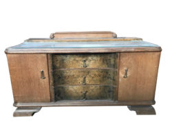 commoade, unrestored, brown, great foot, veneer, antique, living room, sideboard, pattern, luxury, large, stable, pattern, glass plate