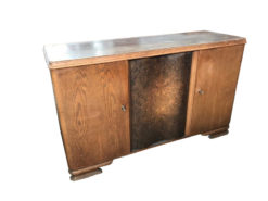 sideboard, unrestored, brown, veneer, antique, living room, elegant, pattern, luxury, large, stable, pattern, walnut, door, walnut door