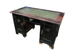 desk, unrestored, black, great foot, veneer, antique, living, elegant, pattern, luxury, large, stable, pattern, table, condition