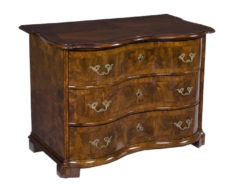 commode, baroque, german, veneer, walnut wood, walnut, hessian, three-parted, luxury, design, restored, concave, curved, living room
