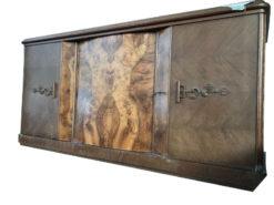chest of drawers, unrestored, brown, great foot, veneer, commode, living room, elegant, pattern, luxury, large, stable, pattern, symmetrical