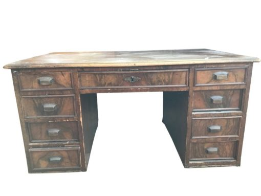 desk, unrestored, brown, great foot, veneer, antique, living, elegant, pattern, luxury, large, stable, pattern, table, ornamentations