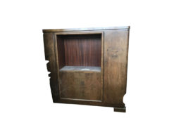 cupboard, unrestored, brown, great foot, veneer, antique, living room, elegant, pattern, luxury, large, stable, pattern, cabinet