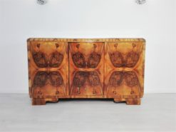 1920s Burl Art Deco Sideboard from France, Original, Design, Walnut, wood, storage, piece, interior design, grain, veneer, furniture