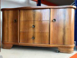 commode, unrestored, brown, great foot, veneer, antique, living, elegant, pattern, luxury, large, stable, pattern, serpentine