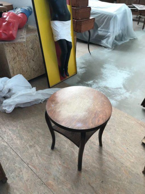 side table, unrestored, brown, great foot, veneer, antique, living, elegant, pattern, luxury, large, stable, pattern, table