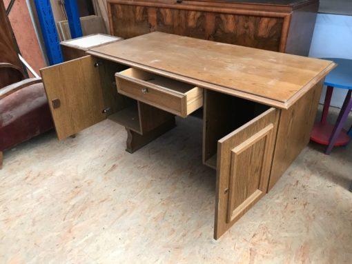 desk, unrestored, brown, great foot, veneer, antique, living, elegant, pattern, luxury, large, stable, pattern, oak, wood