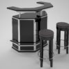 black_and_chrome_art_decvo_bar_with_stooling_3