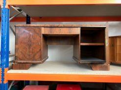 desk, unrestored, brown, great foot, veneer, antique, living, elegant, pattern, luxury, large, stable, pattern, burl wood