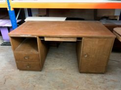 desk, unrestored, brown, great foot, veneer, antique, living, elegant, pattern, luxury, large, stable, pattern, drawer, nice