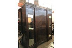 wardrobe, unrestored, brown, great foot, veneer, antique, living, elegant, pattern, luxury, large, stable, pattern, cabinet