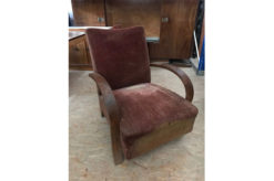 armchair, unrestored, brown, great foot, veneer, antique, living, elegant, pattern, luxury, large, stable, pattern, fabric