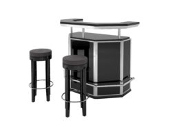 Black and Chrome Art Deco Bar, stooling, bar, design, interior design, steel, footrest, luxury, furniture, interior design