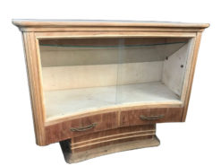 showcase, unrestored, brown, great foot, veneer, antique, elegant, pattern, luxury, large, stable, pattern, vitrine, curved