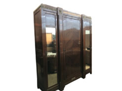 wardrobe, unrestored, brown, great foot, veneer, antique, living, elegant, pattern, luxury, large, stable, pattern, cabinet