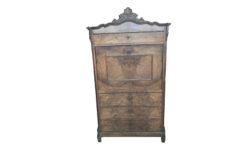 secretary, unrestored, brown, secretaire, veneer, antique, living, elegant, pattern, luxury, large, stable, pattern, wood