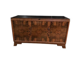 sideboard, unrestored, brown, great foot, veneer, antique, living room, elegant, pattern, luxury, large, stable, pattern, root wood