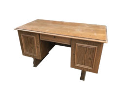 desk, unrestored, brown, great foot, veneer, antique, living, elegant, pattern, luxury, large, stable, pattern, oak, wood