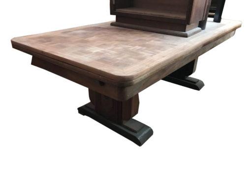 dining table, unrestored, brown, great foot, veneer, antique, living room, elegant, pattern, luxury, large, stable, pattern, table