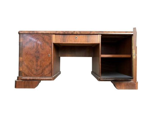 desk, unrestored, brown, great foot, veneer, antique, living, elegant, pattern, luxury, large, stable, pattern, burl wood