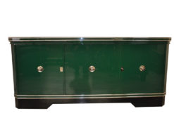 Stunning Original Art Deco Sideboard from the 1920s, restored in our manufactory in Germany. Finished with a unique, high gloss green paintjob.