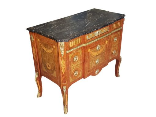 Late 19th Century Commode With Marble Top Original