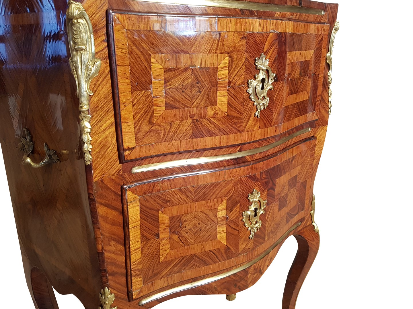 Rococo Commode With Marble Top Original Antique Furniture