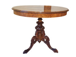 19th Century Mahogany Side Table, Antiques, Original, northern Germany, wood, veneer, grain, restored, walnut, table, interior