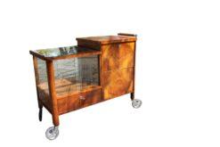 bar, restored, brown, great foot, veneer, antique, living room, elegant, pattern, luxury, large, stable, pattern, walnut, rolling