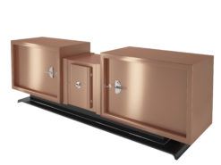 Art Deco Design Sideboard with Copper Finish, Interior Design, furniture, luxury, storage items, materials, matt finish, metal, made in Germany