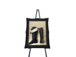 schwarz, schuhe, black, boots, illustration, picture, Sig, Moo, chinese, london, paris, comical, gold, deko, element, easel
