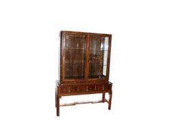 art deco, vitrine, brown, glass, veneer, pattern, lock, key, floor, restored, antique, living, elegant, luxury, showcase, cabinet