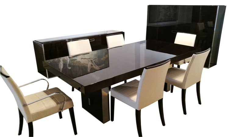 Superb Complete Dining Room With Table Chairs Highboard And Sideboard Ocoug Best Dining Table And Chair Ideas Images Ocougorg