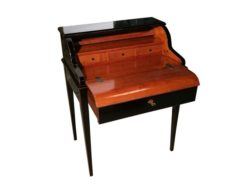 brown, design, secretary, secretaire, horse, hair, frame, cherry, wood, manufacture, german, germany, upholstery, biedermeier