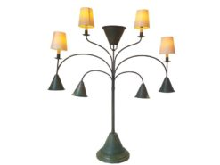 limited, edition, lamp, standing, standing, small, german, germany, simple, polished, living, room, green, metal, painted