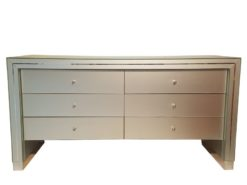 limited, edition, commode, standing, small, german, germany, simple, polished, living, room, glass, misty, drawers, mirrors