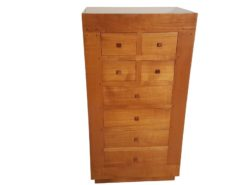 limited, edition, commode, standing, small, german, germany, simple, polished, living, room, wood, birch, cherry, drawers