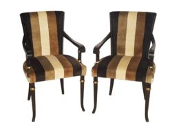 limited, edition, chair, chairs, standing, small, german, germany, simple, polished, living, room, black, gold, empire, stripe